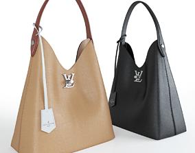 Women leather bag character 3D model