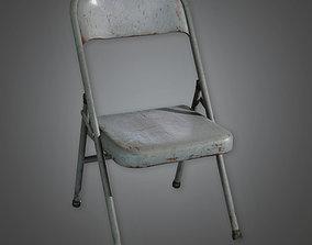 Folding Metal Chair TLS - PBR Game Ready 3D model