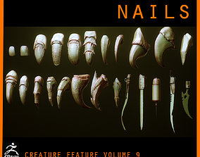 NAILS - 24 Character and Creature Nails 3D model