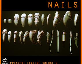 NAILS - 24 Character and Creature Nails 3D model
