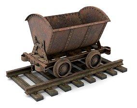 Rusty Metal Cart Mine 3D asset