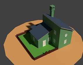 Low Poly Farm House 2 3D model