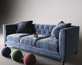 3D model Graham Velvet Sofa
