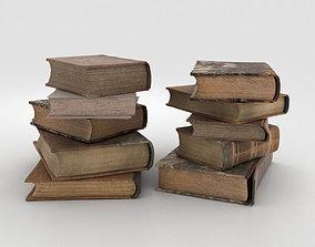 various-models Old Books 3D model