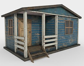 Worn Shed PBR Game-Ready 3D model