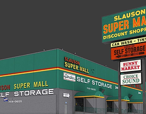 Slauson Super Mall Building 3D model