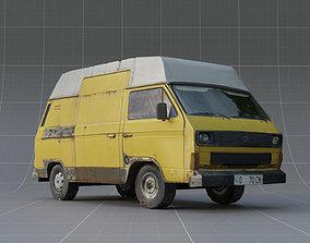 Yellow car Lowpoly model VR / AR ready