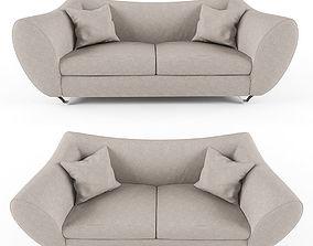 Quantum Sofa Stainless Steel 3D