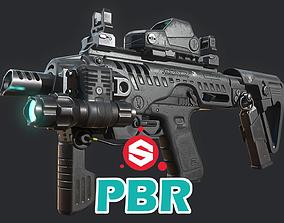 Roni Carbine PBR 3D model