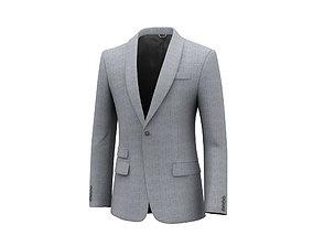 Single Button Suit 3D