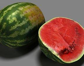 watermelon 3D model low-poly