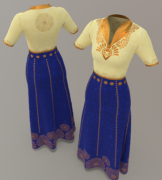 Indian Wedding Party Dress Costume