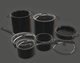 3D asset Cooking Pots 03 KTC - PBR Game Ready