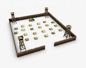 3D model Military fort