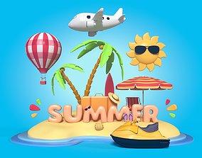 3D asset Summer Collection