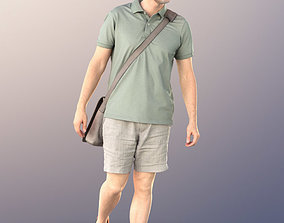 10845 Will walking casual man with bag shopping 3D model