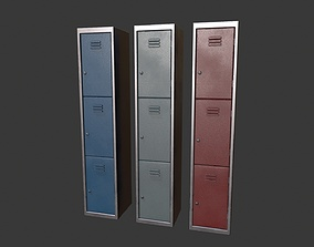 Lockers 3D model realtime