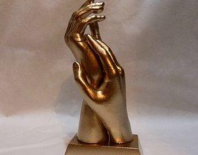 Hands of lovers 3D print model