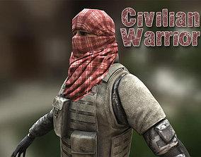 3D model Civilian Warrior