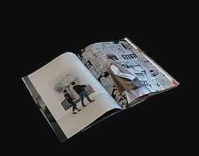 3D asset book magazine