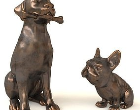 3D model Dogs statuette