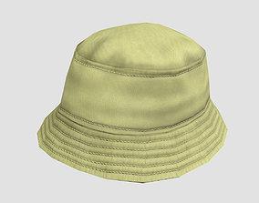 Bucket hat - khaki 3D model