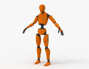 Crash Test Dummy Robot 3D model rigged