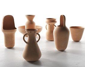 3D model Gardenias Vases shapes