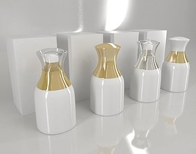 4 Luxury Bottle and Box - White edition 3D model