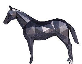 3D model Horse Low Poly v3