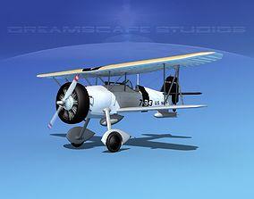 Curtiss F-11-C2 Goshawk V05 3D model
