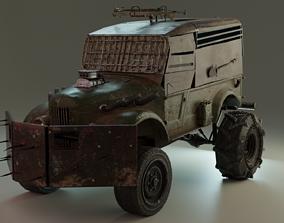 Post-apocalyptic soviet truck 3D model