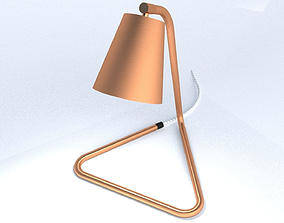 3D model Bent Copper Pipe Table Lamp