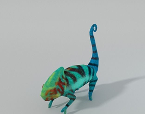 Chameleon 3D asset