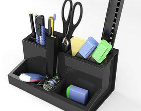 Stationery set on the Desk 3D