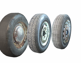 Wheels pack 3D model