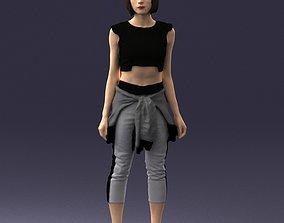 Girl in sportswear 0211 3D Print Ready