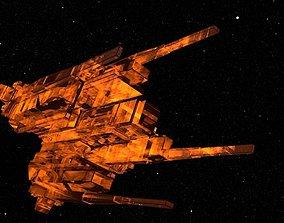 Alien capitalship 3D model