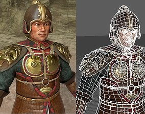 3D asset Realistic Traditional Ancient Asian Warrior