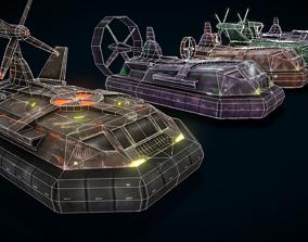 3D asset Hovercraft Seal Navy