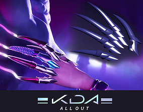3D print model KDA MORE Evelynns Claws articulated finger