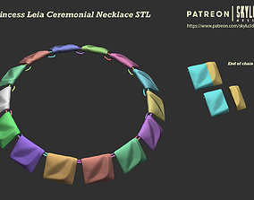 Leia Ceremonial Necklace - Full Scale 3D print ready STL