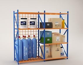 3D model Warehouse Rack Storage 07