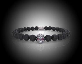 Stylish Skull Beads Bracelet -Firenze 3D print model 3