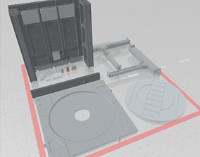 3D printable model -MHB01C- Mecha Hangar Bay 5
