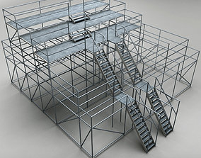 Industrial scaffolding 3D model