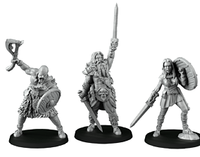 3D printable model band of barbarians