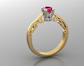 3D printable model Woman ring 19