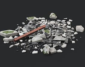 Ruin Debris Rubble 01 3D asset
