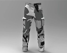Military Pants Snow Camouflage 3D asset